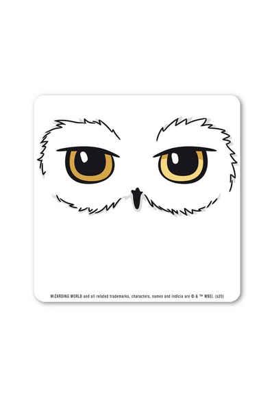 LOGOSHIRT Glasuntersetzer Harry Potter - Hedwig, mit lizenziertem Print