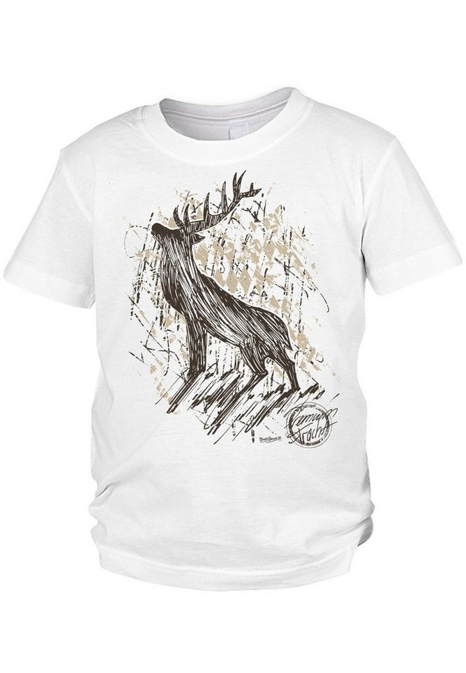 der trachtler -  T-Shirt aus 100% Bio-Baumwolle »Premium Hirsch«