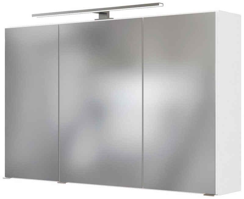 HELD MÖBEL Spiegelschrank »Matera« Breite 100 cm, mit 6 verstellbaren Glasböden