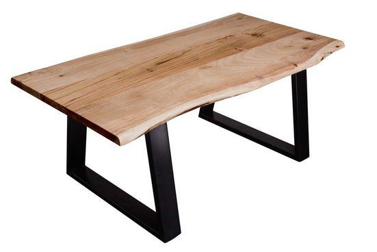 SAM® Couchtisch »Matteo«, Akazie Massivholz naturfarben 26mm natürliche Baumkante
