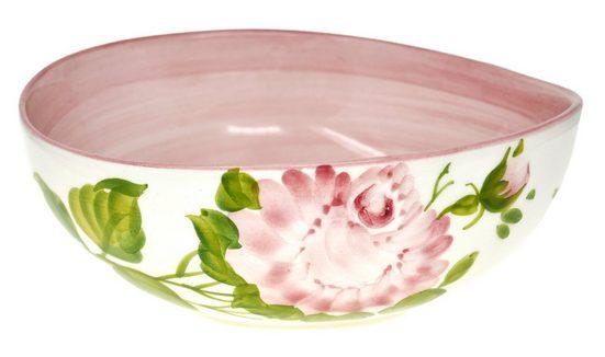 Lashuma Dessertschale »Rose«, Keramik, (1-tlg), Handgefertigte Servierschale, Keramikschüssel Ø 20 cm