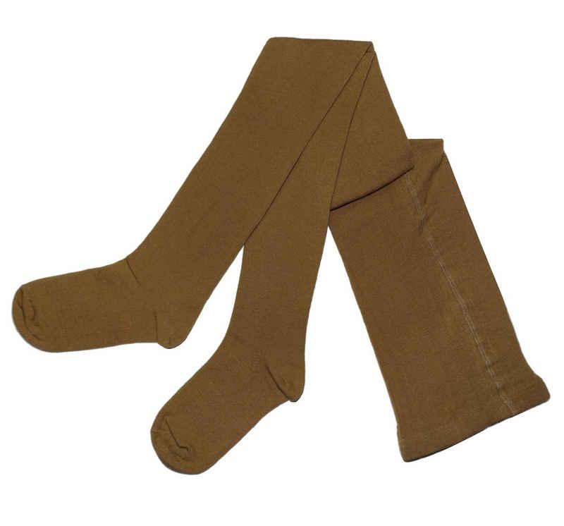 WERI SPEZIALS Strumpfhersteller GmbH Strickstrumpfhose »Damenstrumpfhosen >>Einfarbig Natur<< mit Baumwolle«