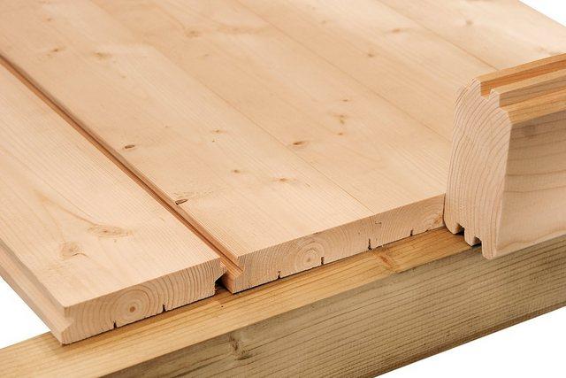 Fußboden für Wolff Finnhaus Holz-Gartenhaus Calais mit Anbau