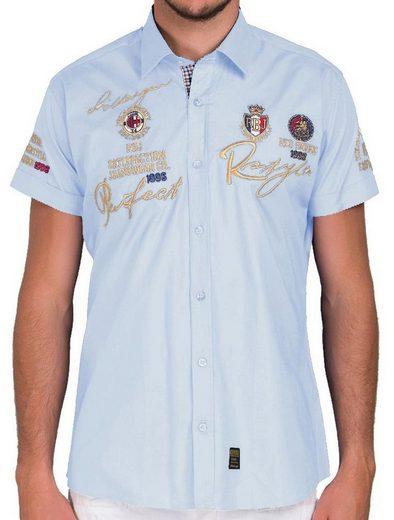 RedBridge Kurzarmhemd »Lubbock« im Slim Fit-Schnitt mit Stickerei
