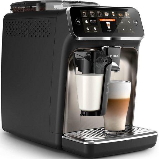 Philips Kaffeevollautomat 5400 Series EP5447/90 LatteGo, chrom/mattschwarz