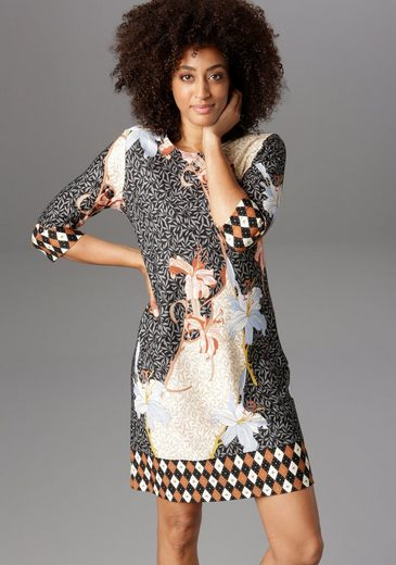 Aniston SELECTED Jerseykleid mit Allover-Blumendruck