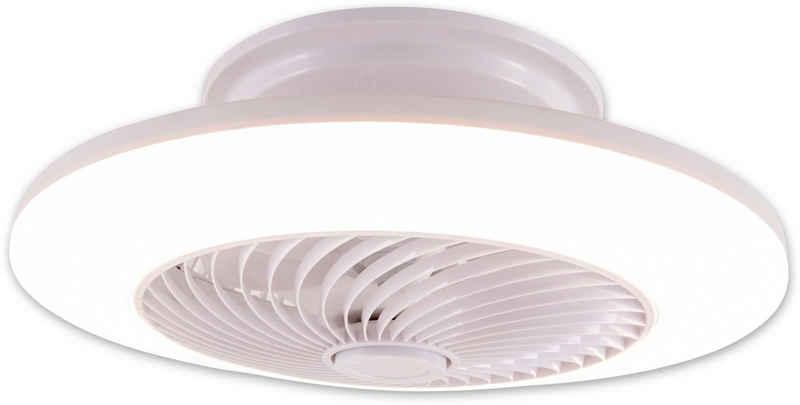 näve LED Deckenleuchte »Adoranto«, Deckenventilator, inkl. Fernbedienung, Decken Ventilator mit Leuchte Lampe Durchmesser Durchmesser 55 cm
