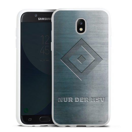 DeinDesign Handyhülle »Nur der HSV Metalllook« Samsung Galaxy J5 (2017), Hülle HSV Hamburger SV Metallic Look