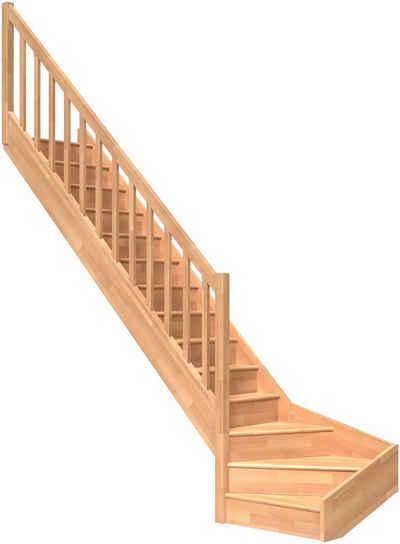 Dolle Raumspartreppe »Paris«, für Geschosshöhen bis 318 cm, Stufen geschlossen, Holzgeländer, versch. Ausführungen