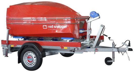 STEMA PKW-Anhänger »Red Snapper«, max. 327 kg, inkl. Klappboot, Transportgestell und Slipschiene