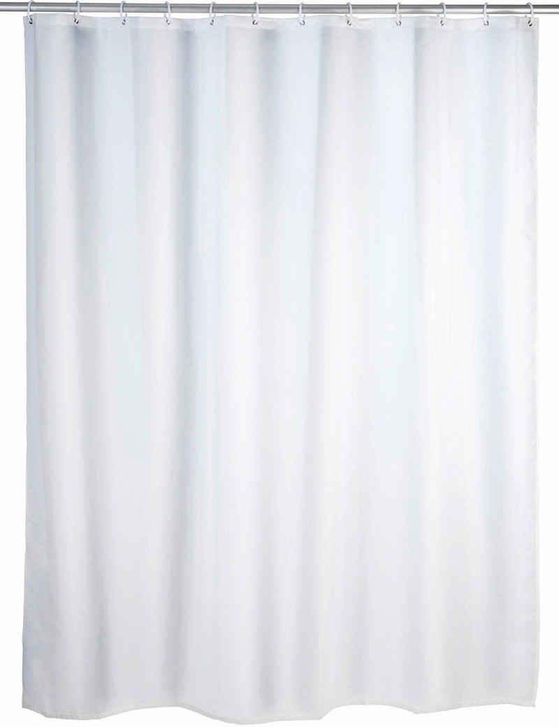 WENKO Duschvorhang »Uni White« Breite 180 cm, Höhe 200 cm, Polyester, waschbar