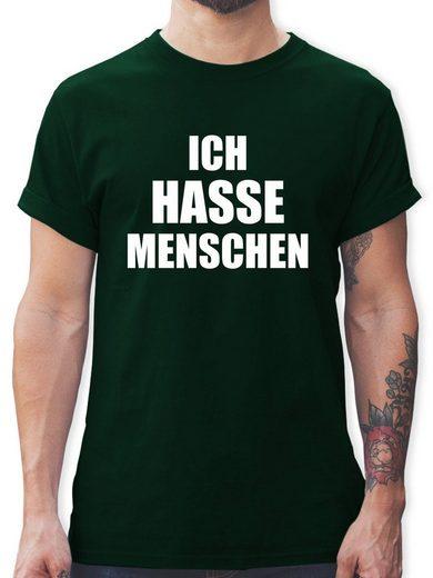 Shirtracer T-Shirt »Ich hasse Menschen - Herren Premium T-Shirt - T-Shirts« Sprüche