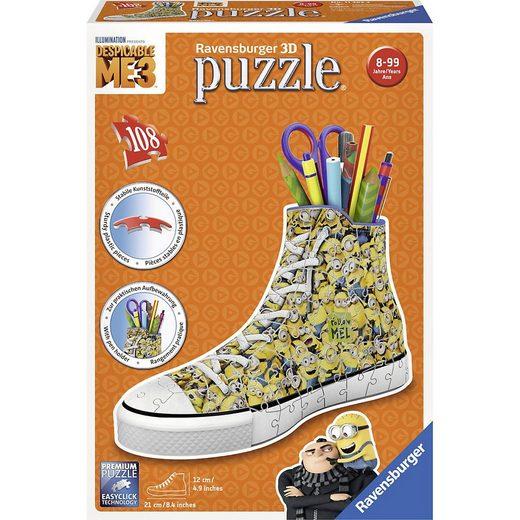 Ravensburger 3D-Puzzle »3D Puzzle Sneaker 108 Teile Minions Ich - einfach«, Puzzleteile