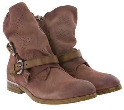 Arizona »ARIZONA Herbst-Stiefelette weiche Damen Veloursleder-Boots im Used-Look Stiefel Altrosa« Stiefelette