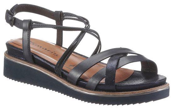 Tamaris »EDA« Sandale mit überkreuzten Riemchen