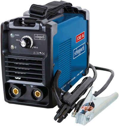 Scheppach Inverterschweißgerät »WSE1000«, 10 - 130 A, Set, mit Schweißschirm, Drahtbürste, Schlackehammer, Elektroden, Tragegurt