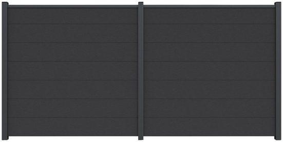 Kiehn-Holz Set: Sichtschutzelement BxH: 360x180 cm, Pfosten zum einbetonieren