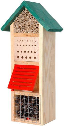 DOBAR Insektenhotel »Turm mit Spitzdach«, BxTxH: 22,5x14x50 cm