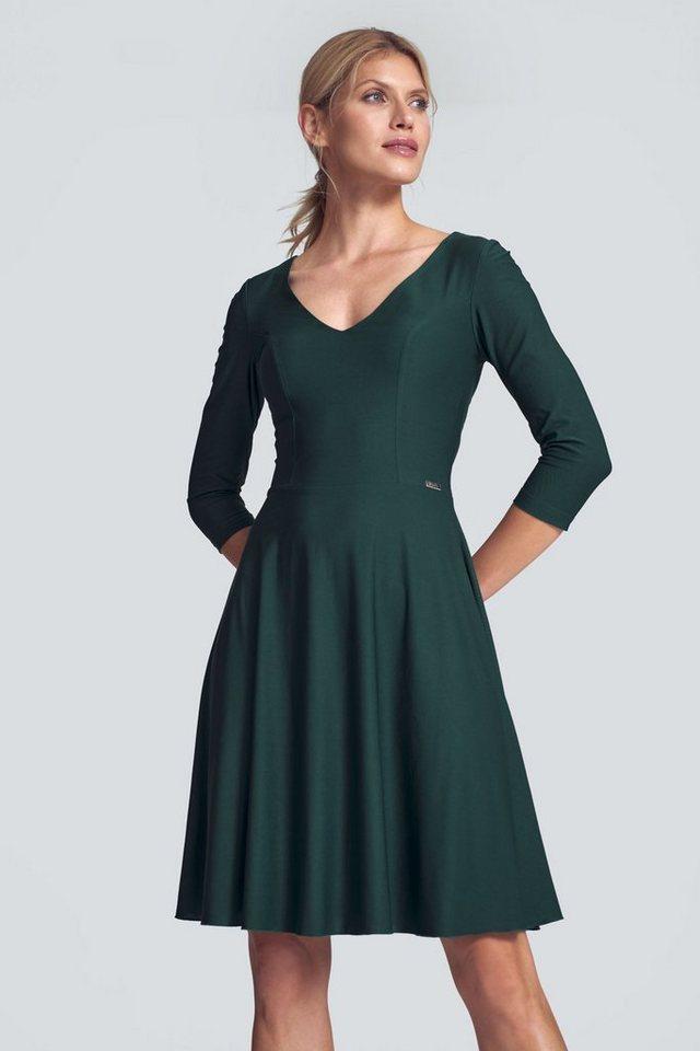 figl -  Jerseykleid »M709« mit elegantem V-Ausschnitt