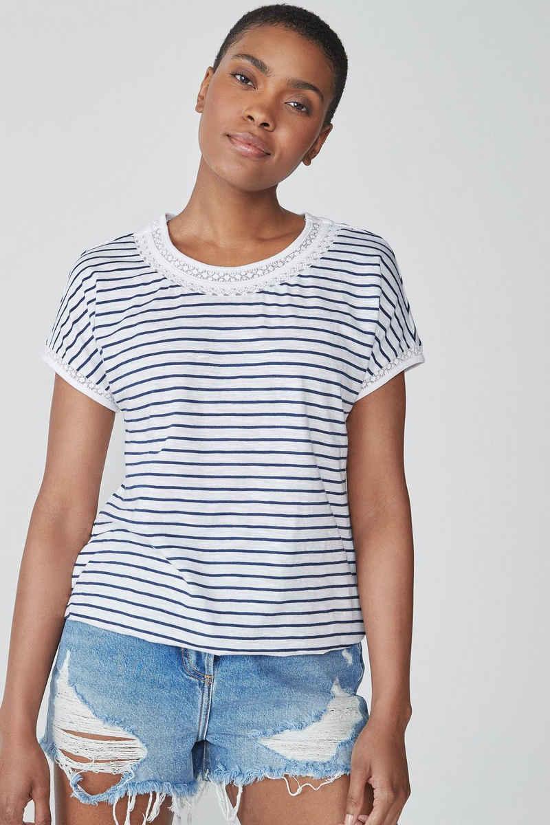 Next T-Shirt »T-Shirt mit Ballonsaum« (1-tlg)