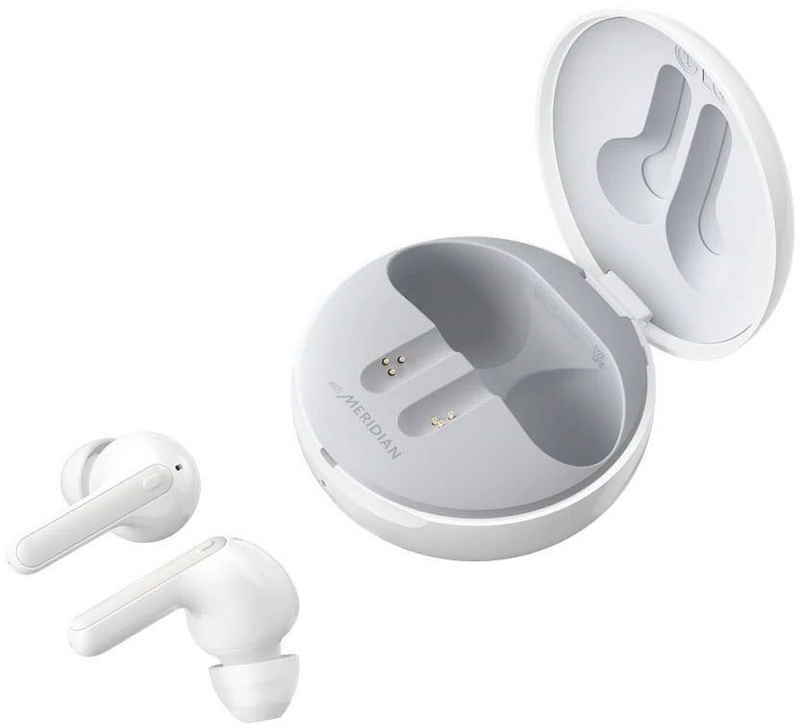 LG »TONE Free FN7 Earbuds Kabellose Bluetooth« In-Ear-Kopfhörer (Active Noise Cancelling (ANC), Sprachsteuerung, kompatibel mit Siri, LED Ladestandsanzeige, Noise-Reduction, UV-Reinigung, Google Assistant, Siri, Bluetooth)