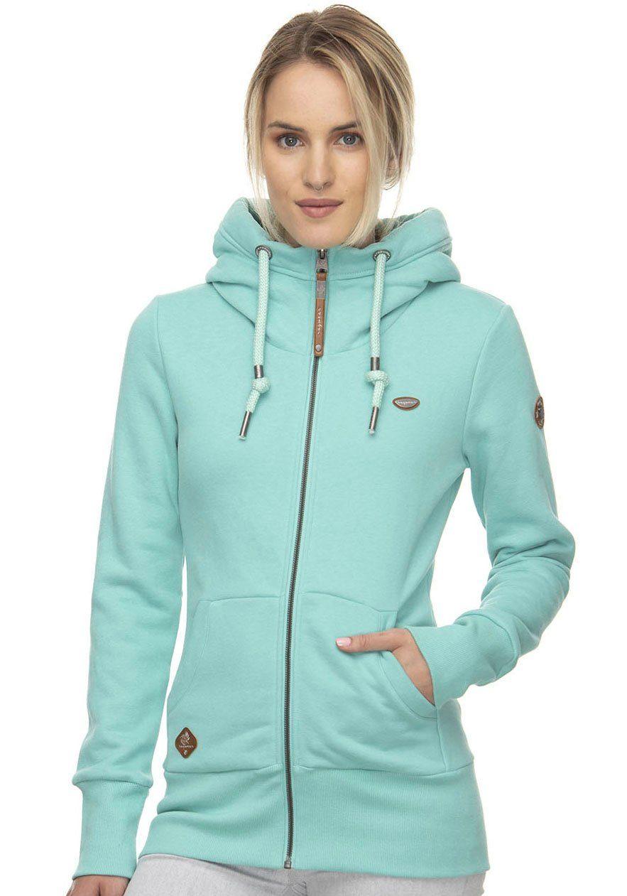 69,95 € Ragwear Women Sweatjacke YODA SWEAT  denim blue oder mint UVP.