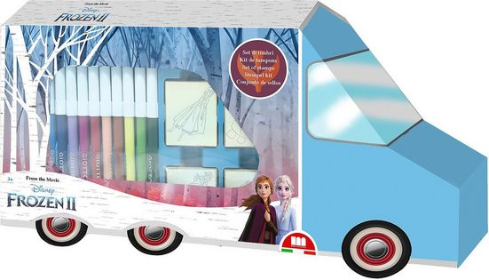 Disney Frozen Malvorlage »Frozen 2 Colouring Bus«
