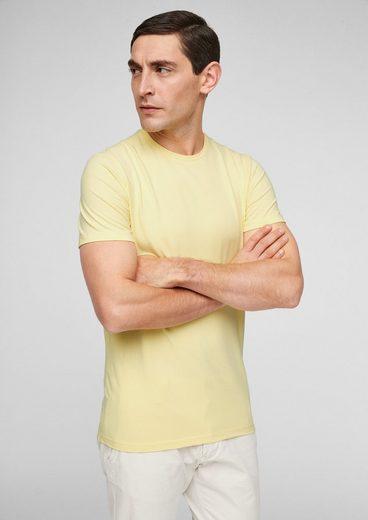 s.Oliver BLACK LABEL Kurzarmshirt »Jerseyshirt im cleanen Style« (1-tlg)