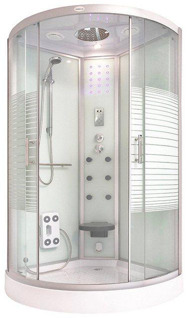 Duschen und Zubehör - HOME DELUXE Komplettdusche »White Pearl«, BxT 100x100 cm, Sicherheitsglas, 1 tlg., mit großer Tropenbrause  - Onlineshop OTTO