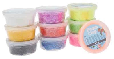 creativ company Modellierwerkzeug »Foam Clay-Sortiment«, sortiert, 10x35g