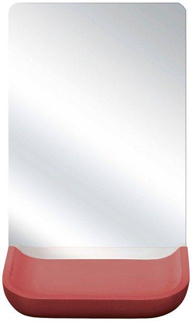 KLEINE WOLKE Kosmetikspiegel »Tray Mirror«, Weiss | Bad > Bad-Accessoires > Kosmetikspiegel | Rot | Kleine Wolke