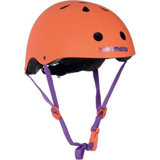 Kiddimoto Kinderfahrradhelm »Fahrradhelm - Orange Matt - M (53-58cm)«