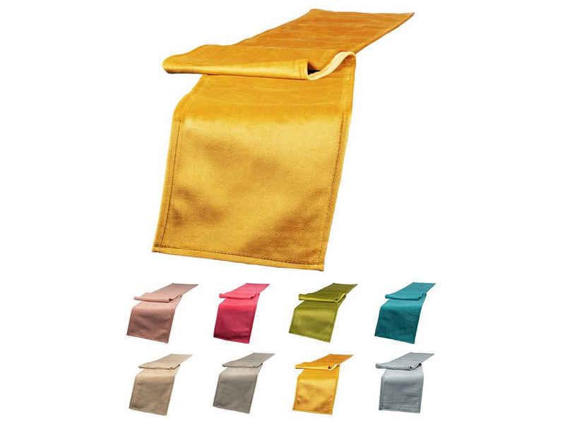 beties Tischband »Samt&Sonders«, Tischläufer schmal ca. 18x140 mit dekorativer Jeansnaht aus deutschem Unternehmen in hochwertiger Qualität