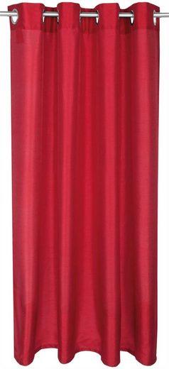 Vorhang, Arsvita, Ösen (1 Stück), Dekoschal Blickdicht mit Ösen - Aufhängung, in verschiedenen Farben und Größen
