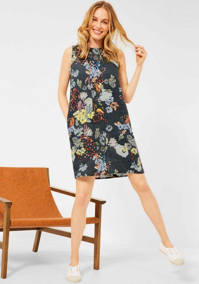 cecil -  Sommerkleid aus Leinen mit Blumen-Print