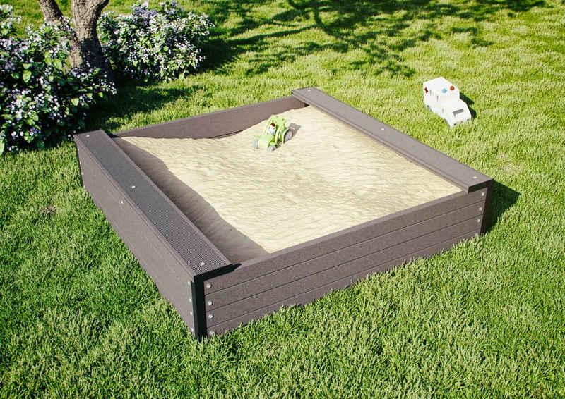 Kiehn-Holz Sandkasten, BxLxH: 120x120x27 cm