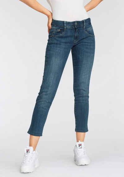 Herrlicher 7/8-Jeans »GINA CROPPED POWERSTRETCH« mit seitlichem Keileinsatz