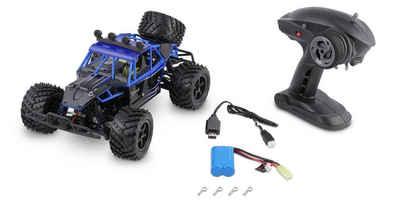 Overmax RC-Auto »X-Flash ferngesteuerter RC Buggy 45 km/h, 1:18, 2 Akkus, Allrad, 100m, Öl Stossdämpfer, LED Licht, Auto« (Komplettset), Buggy-Design