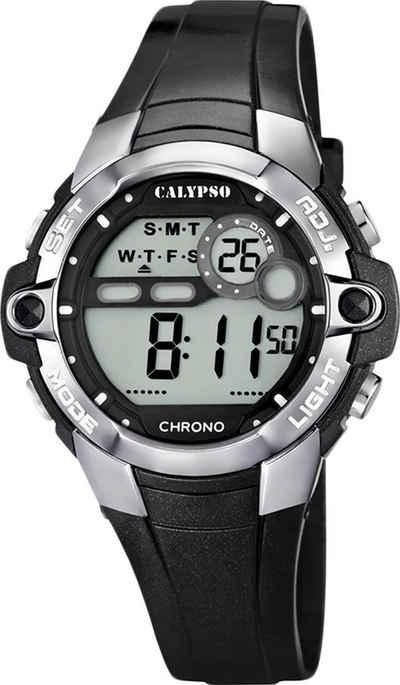 CALYPSO WATCHES Digitaluhr »UK5617/6 Calypso Unisex Uhr K5617/6 Kunststoffband«, (Digitaluhr), Damen, Herren Armbanduhr rund, PURarmband schwarz, Sport