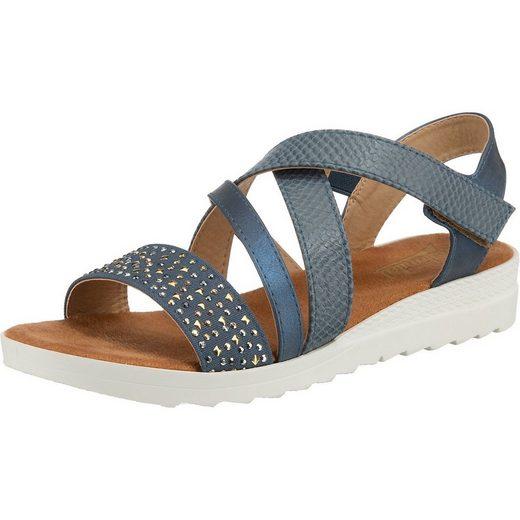 ambellis »verzierte Riemchensandale mit Klettverschluss« Sandale