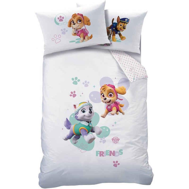 Bettwäsche »Kinderbettwäsche, Paw Patrol, weiß, 100 x 135 cm +«, CTI