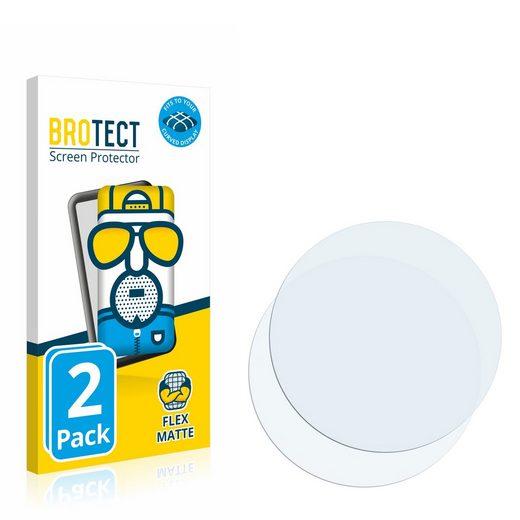 BROTECT Schutzfolie »für Kreisrunde Displays (Durchmesser: 36 mm)«, (2 Stück), Full-Cover 3D Curved matt entspiegelt