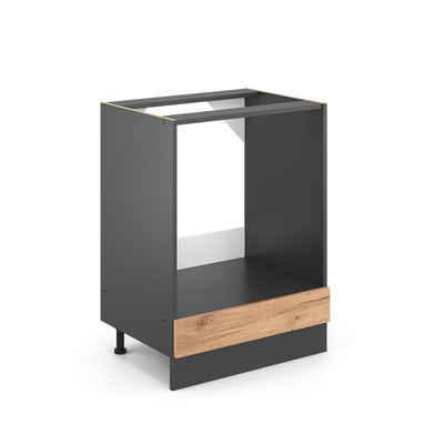 Vicco Herdumbauschrank »Küchenschrank 60 cm R-Line Anthrazit«