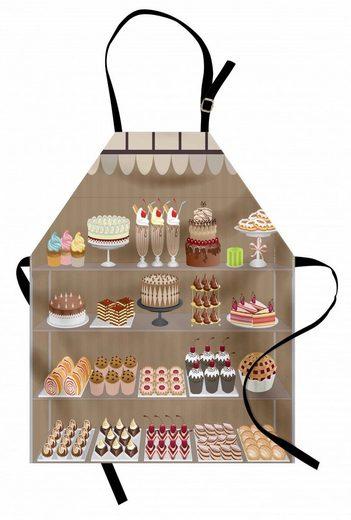Abakuhaus Kochschürze »Höhenverstellbar Klare Farben ohne verblassen«, Dessert Bäckerei Auslage