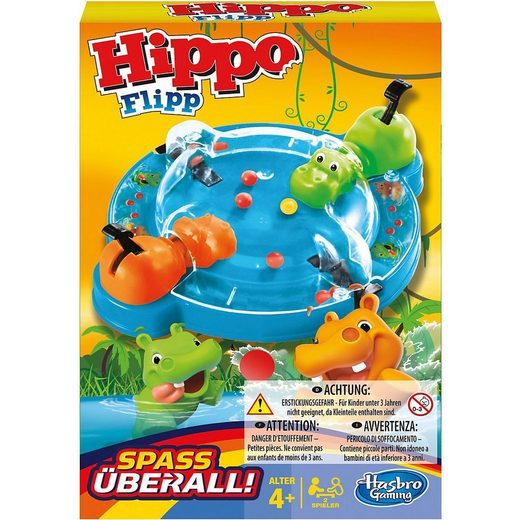 Hasbro Spiel, »Hippo Flip Kompakt«