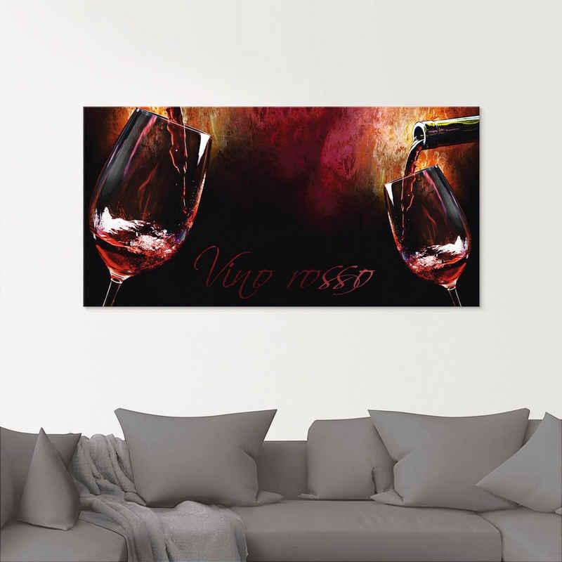 Artland Glasbild »Wein - Rotwein«, Getränke (1 Stück)