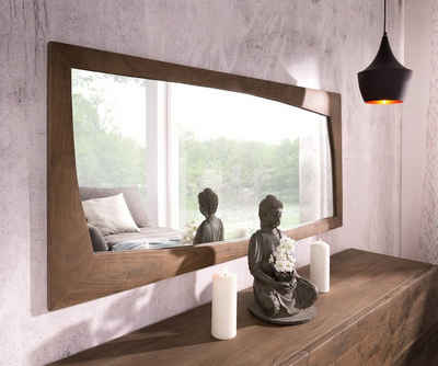 DELIFE Spiegel »Wyatt«, Akazie Braun 160x70 cm Design Wandspiegel