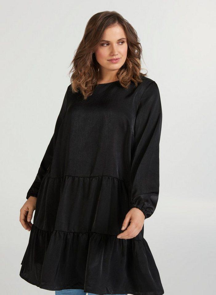Festtagsmode - Zizzi Abendkleid Große Größen Damen Shiny Kleid mit Teilungsnaht ›  - Onlineshop OTTO