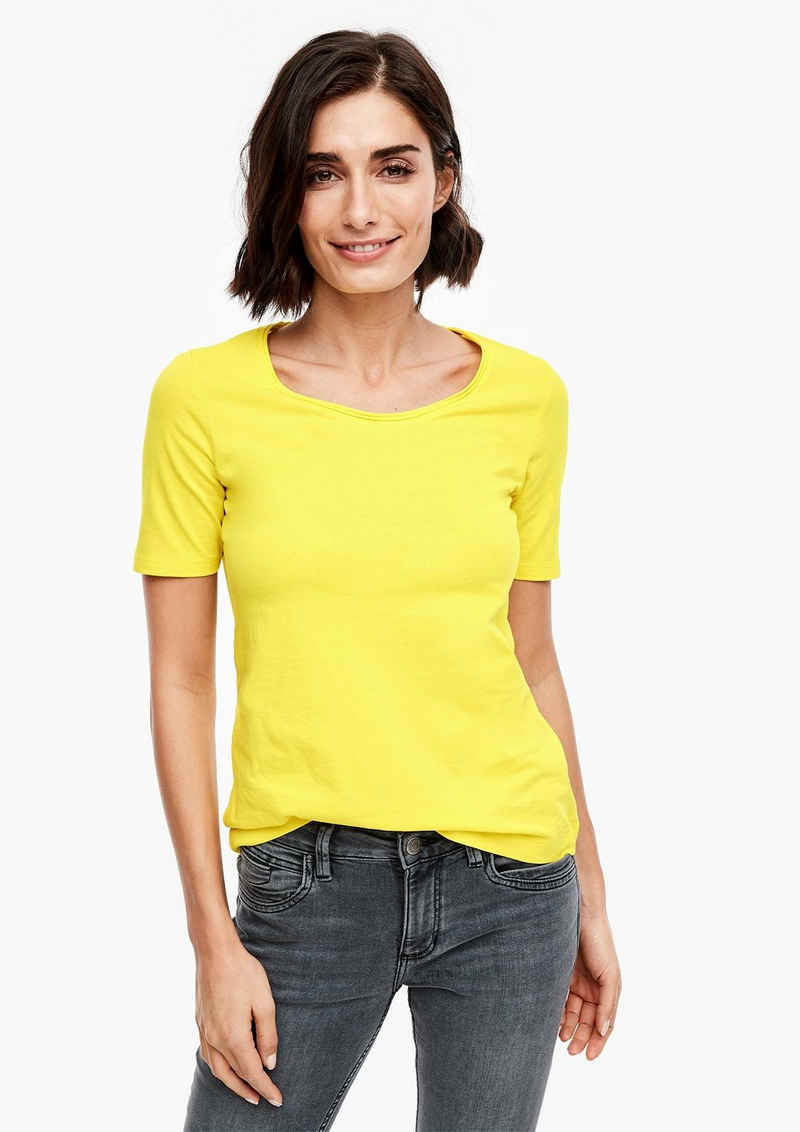 s.Oliver Kurzarmshirt »T-Shirt in Unicolor« (1-tlg)
