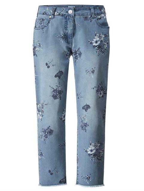 Hosen - Angel of Style by HAPPYsize 5 Pocket Jeans mit Blütenprint ›  - Onlineshop OTTO